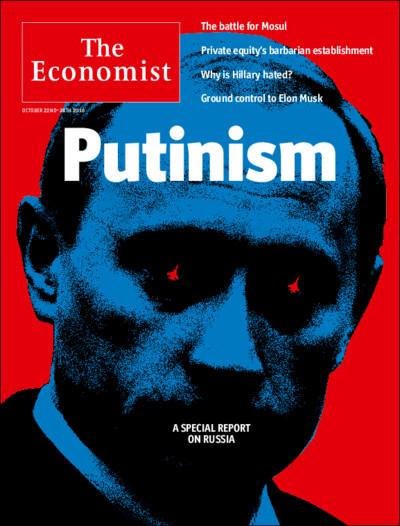 Putin - Cover page of The Economist