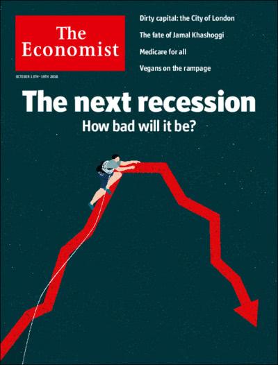 Image result for The Economist next recession